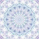 Purple, Blue, and Green Pastel Mandala by Kelly Dietrich