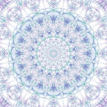 Purple, Blue, and Green Pastel Mandala by kellydietrich