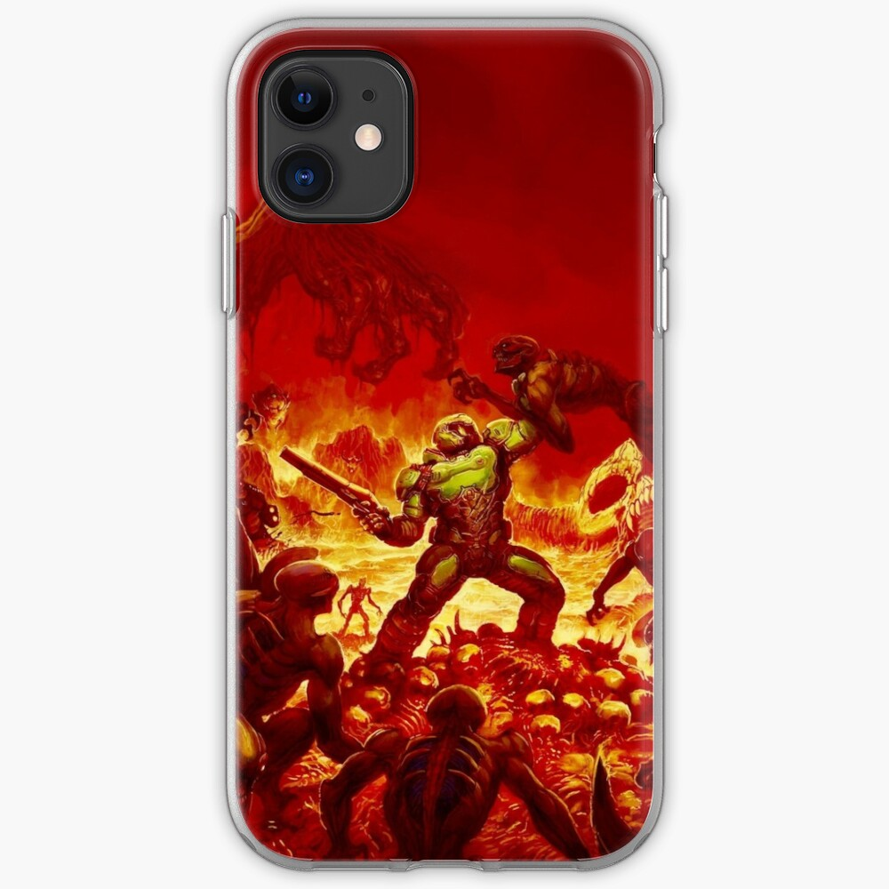 Doom 2016 Alternate Cover Iphone Case Cover By Ragsmaroon Redbubble