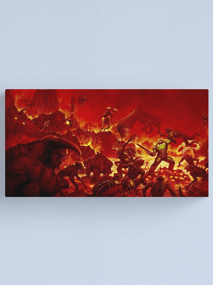 Alternate view of DOOM (2016) Alternate cover Canvas Print