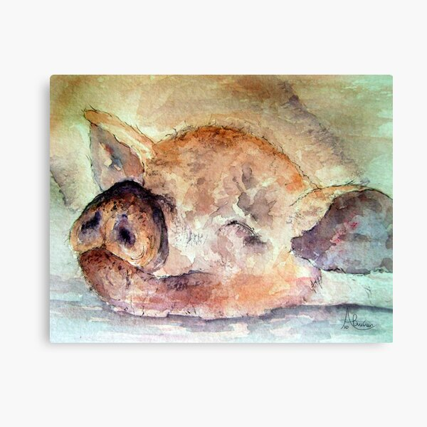 Pigging Tired Canvas Print