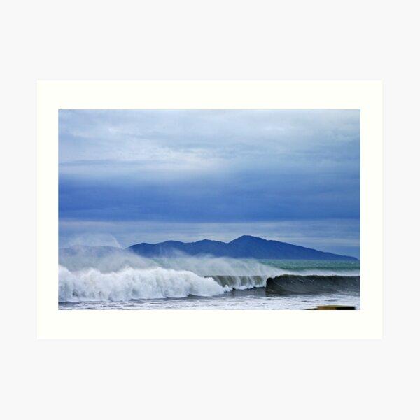 Surfs Up - Kapiti Island - New Zealand Art Print