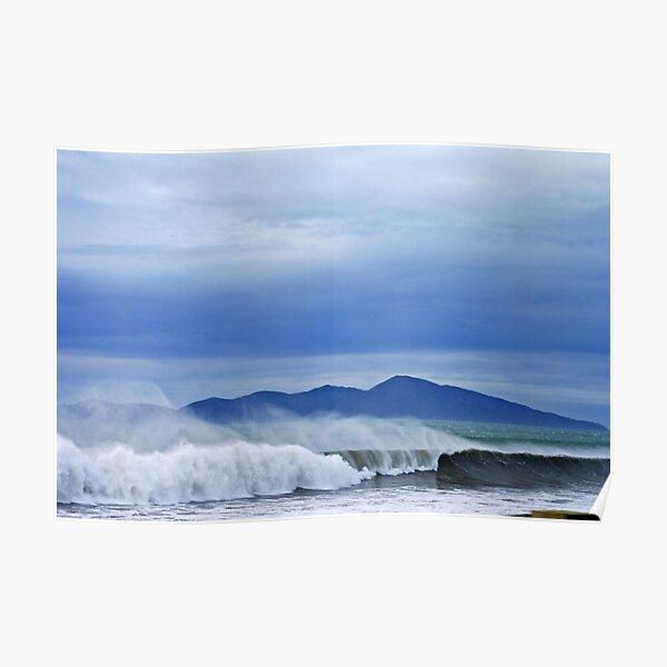 Surfs Up - Kapiti Island - New Zealand Poster