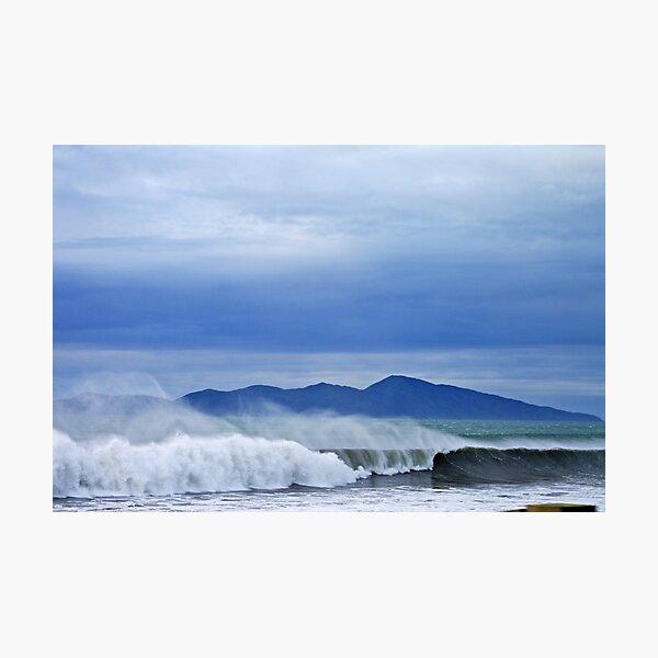 Surfs Up - Kapiti Island - New Zealand Photographic Print