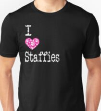 I Heart Staffies | Love Staffordshire Bull Terrier Dog Breeds Unisex T-Shirt