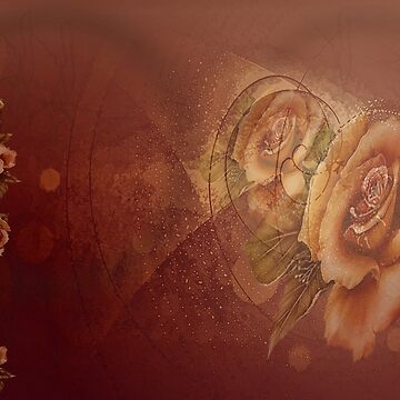 Bronze Roses in Abstract by JMarielle