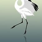 Whooping Crane (Support the International Crane Foundation) by BennuBirdy