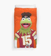 Kermit Mahomes Meme Duvet Cover