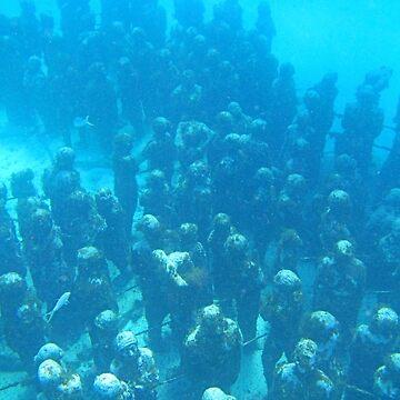 Crowded Ocean Bottom by Johnhalifax
