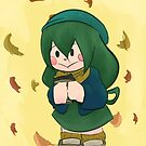 autumn frog by ink-pocket