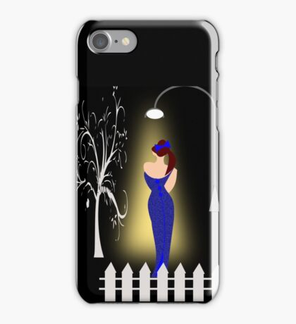 A lady returning from a party/Curve pattern  (7726 Views) iPhone Case/Skin