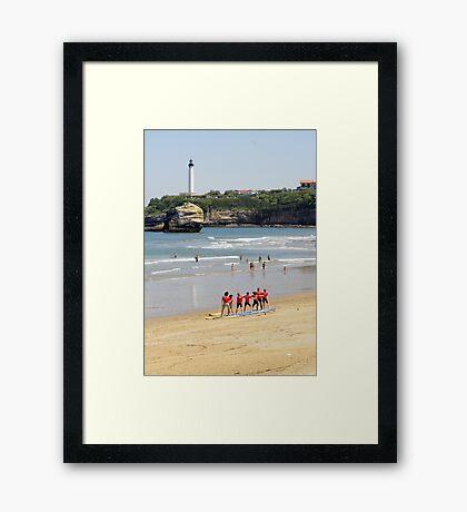 Surf Lessons Anyone? Framed Print