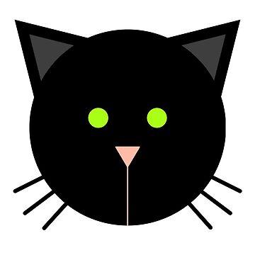 Black Cat Face by Jezunya