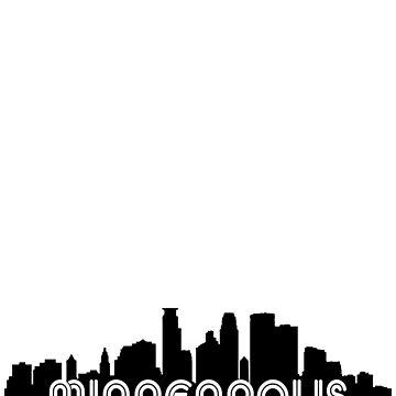 Retro Minneapolis Skyline Gifts by lemonographie