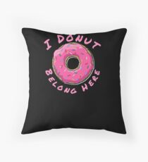 I Donut Belong Here Mini Bakery Shop Floor Pillow