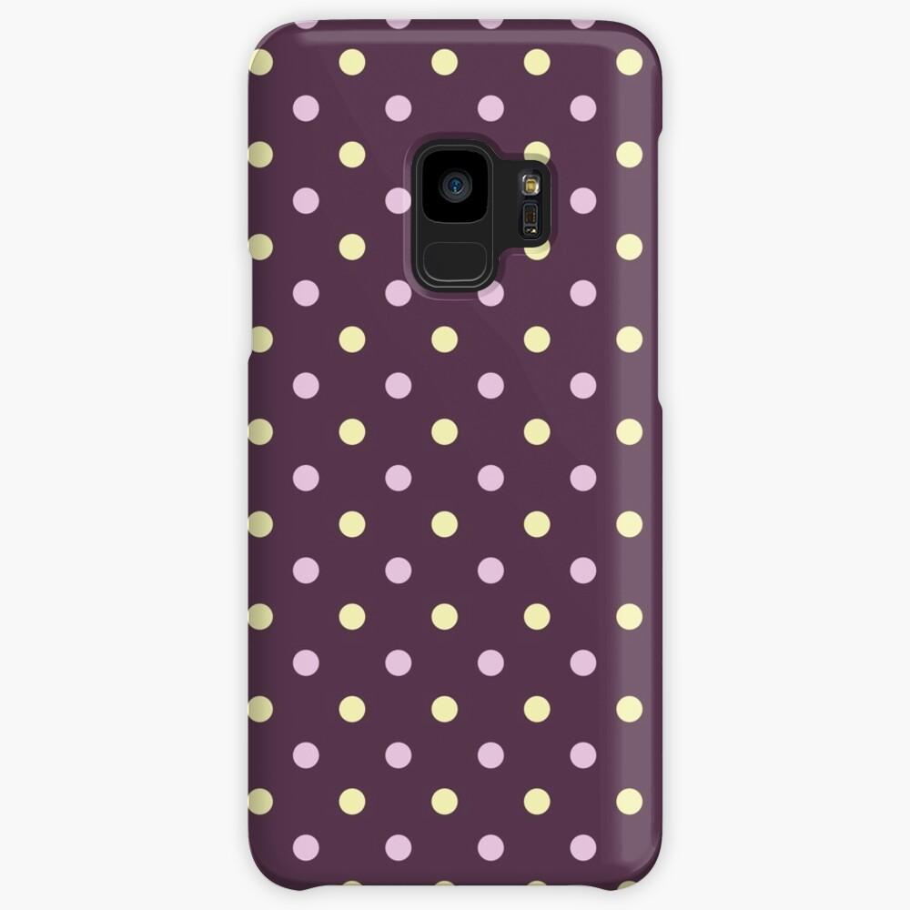 Purple Polka Dots Samsung Galaxy Phone Case