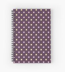 Purple Polka Dots Spiral Notebook