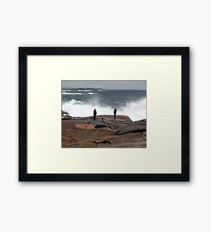 Braving the Storm Framed Print