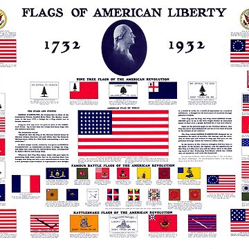 1932 Flags of American Liberty by historicimage