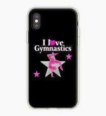 SPARKLING PINK STAR GYMNAST iPhone Case