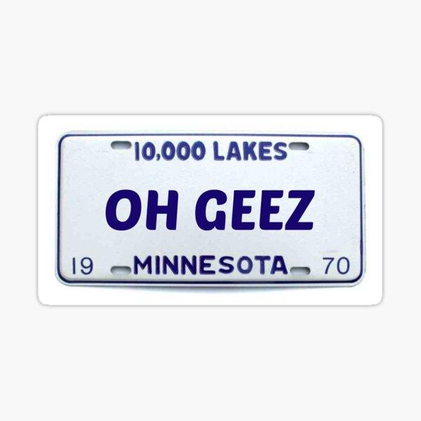 Minnesota: Oh Geez Sticker
