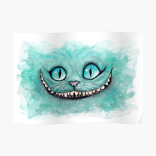Cheshire Cat - Drawing - Drawn Poster