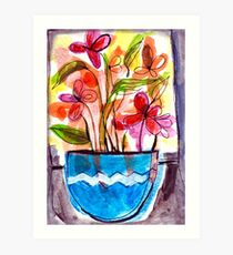 Flowers in a Vase 1.A Art Print