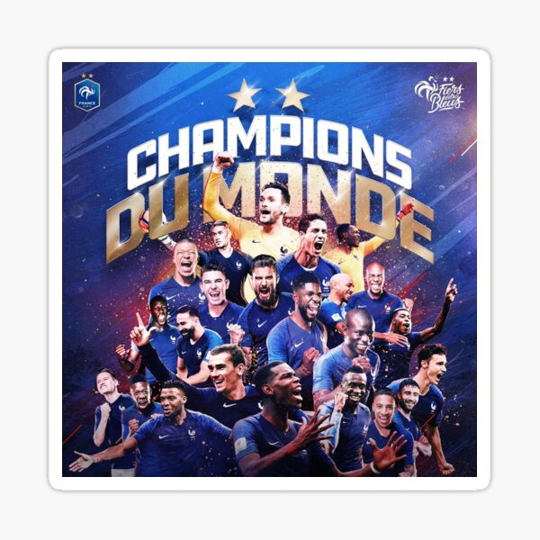 France - Champions of The World  Sticker