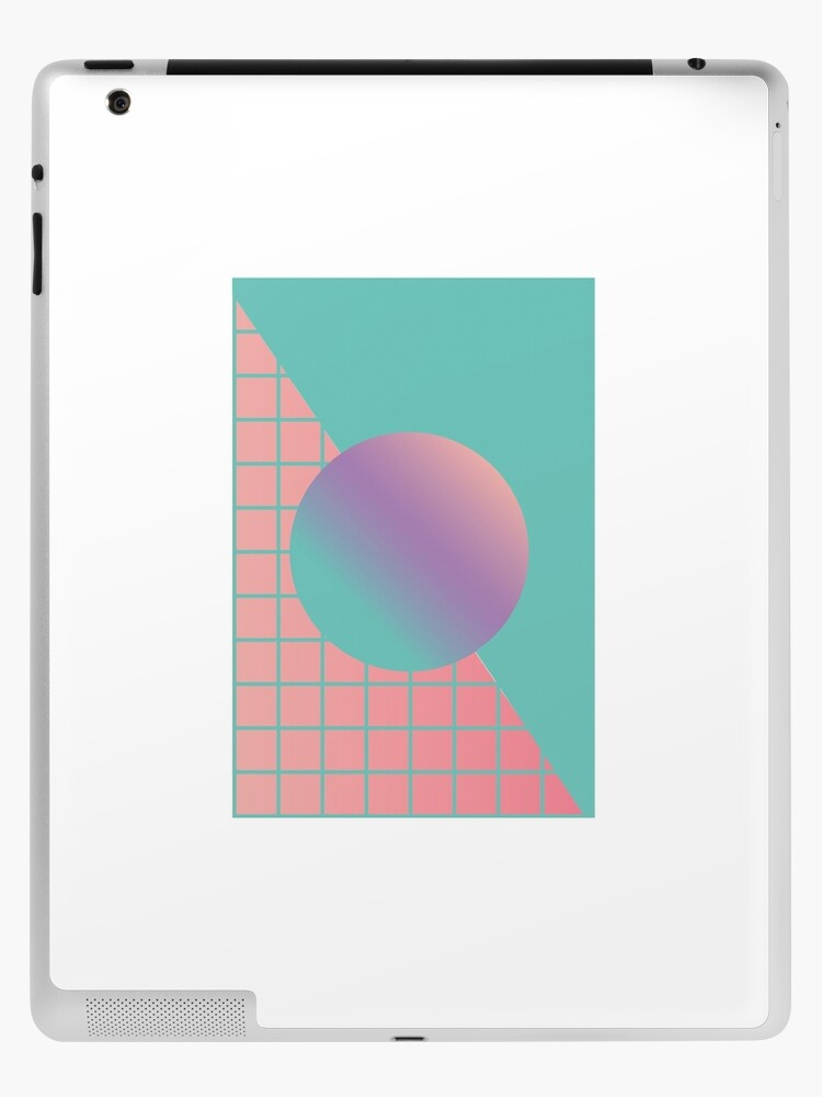 Vaporwave Aesthetic Gradient Grid Design Ipad Case Skin By Sbmakesart Redbubble
