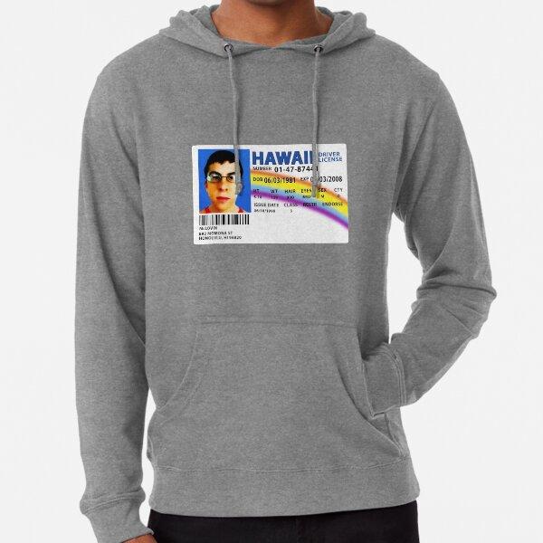 Réplica de licencia de conducir de McLovin SUPERBAD Sudadera ligera con capucha