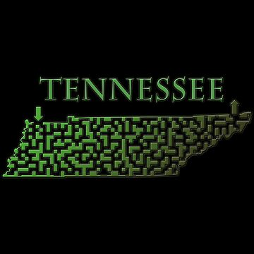 Tennessee State Outline Maze & Labyrinth by gorff