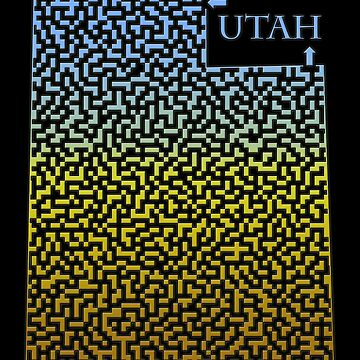 Utah State Outline Maze & Labyrinth by gorff