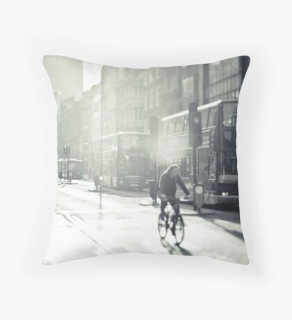 London in Black and White Throw Pillow
