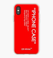 Off White Red Skin iPhone Case
