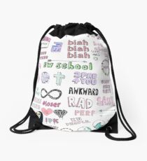 Tumblr Transparent Collage Drawstring Bag