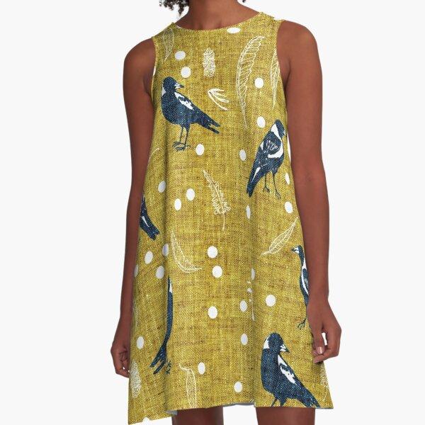 Magpie Season A-Line Dress