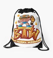 BTW - Battle Tribes Wrestling Logo featuring Jimmy Cheeseburger Drawstring Bag
