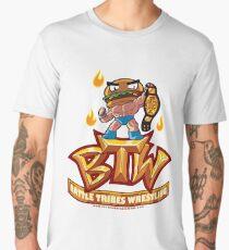 BTW - Battle Tribes Wrestling Logo featuring Jimmy Cheeseburger Men's Premium T-Shirt