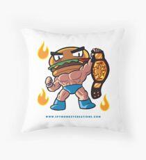 BTW - Jimmy Cheeseburger Throw Pillow