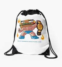 BTW - Jimmy Cheeseburger Drawstring Bag