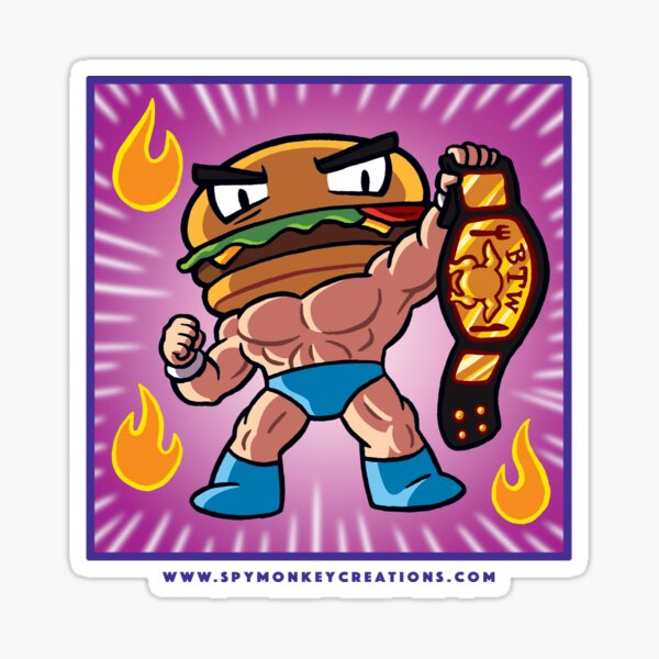 BTW - Jimmy Cheeseburger  Sticker
