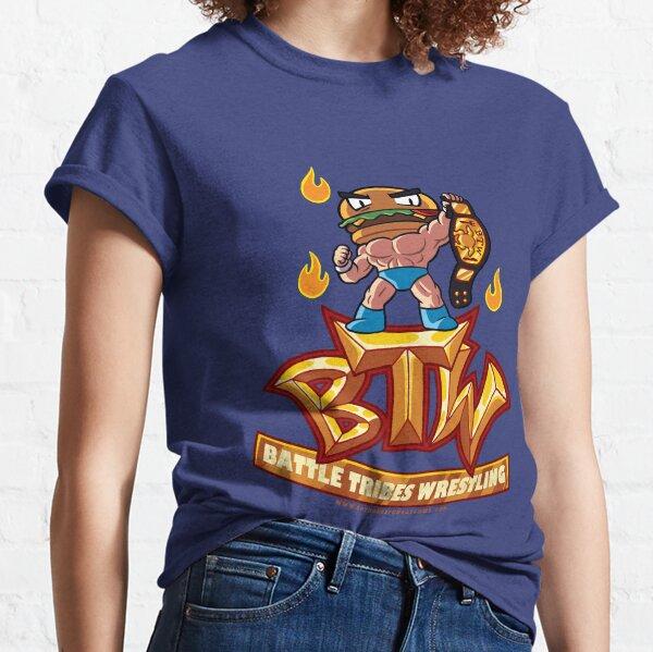 BTW - Battle Tribes Wrestling Logo featuring Jimmy Cheeseburger Classic T-Shirt