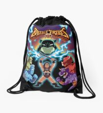 Battle Tribes Illustration  Drawstring Bag