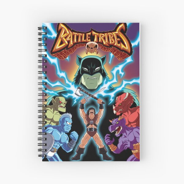 Battle Tribes Illustration  Spiral Notebook