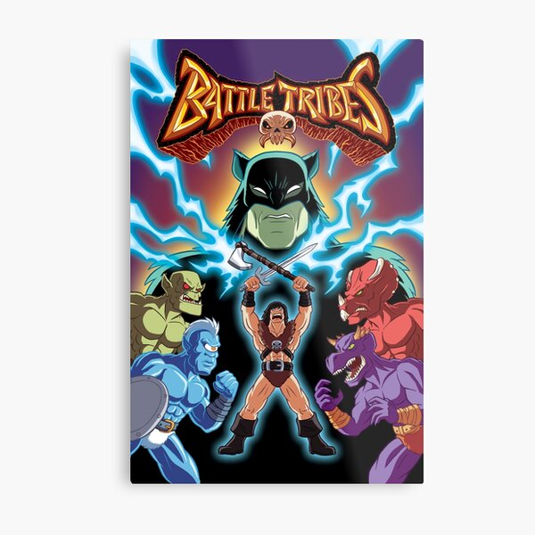 Battle Tribes Illustration  Metal Print