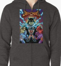 Battle Tribes Illustration (Distressed) Zipped Hoodie