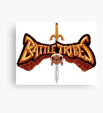 Battle Tribes Sword Logo  Canvas Print