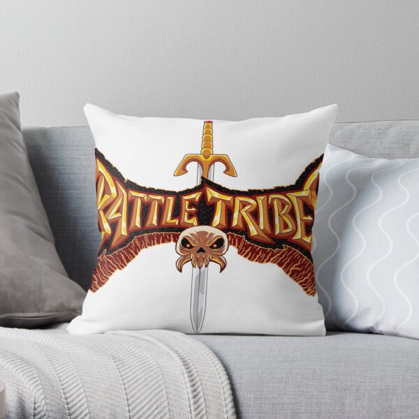 Battle Tribes Sword Logo  Throw Pillow