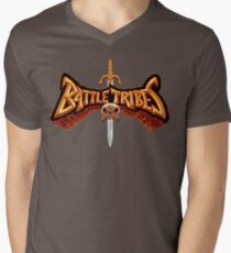 Battle Tribes Sword Logo  Men's V-Neck T-Shirt