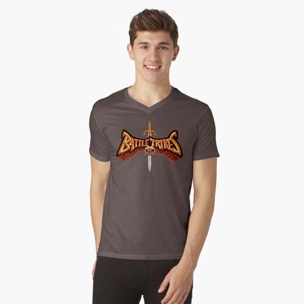 Battle Tribes Sword Logo  V-Neck T-Shirt